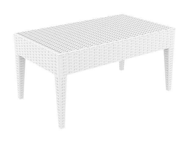 Table basse de jardin en plastique blanc for Table de jardin ronde plastique blanc