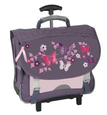 cartable butterfly 38 cm avec roulettes. Black Bedroom Furniture Sets. Home Design Ideas