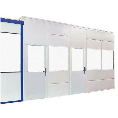 cloison simple paroi t le d 39 acier panneau vitr hauteur 2 51 m comparer les prix de cloison. Black Bedroom Furniture Sets. Home Design Ideas