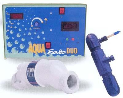 electrolysseur de sel pour piscine aquasalto duo. Black Bedroom Furniture Sets. Home Design Ideas