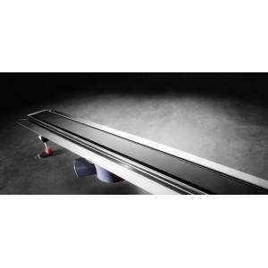 GRILLE EN VERRE NOIR DESIGN 'GLASS' POUR LE TECEDRAINLINE 800MM