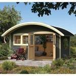 abri toit rond en bois pefc 28mm teinte gris taupe 11 96m karibu abri de jardin bois 10 a 15 m. Black Bedroom Furniture Sets. Home Design Ideas
