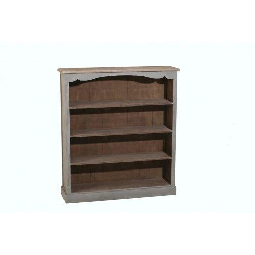 en 4 etagères gris Bibliothèque barique style bois cassie 8wvm0Nn
