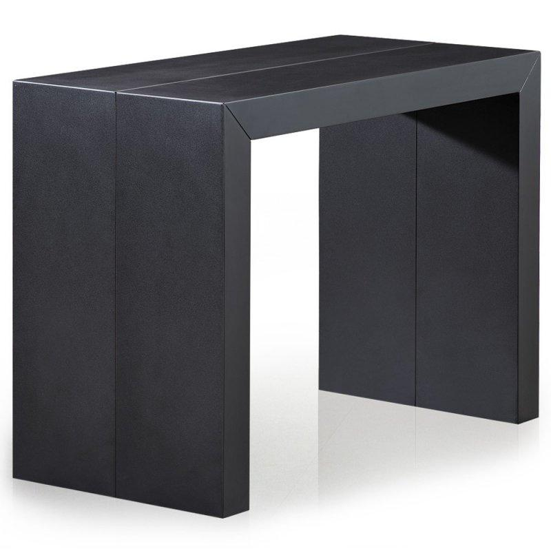 console extensible illusion laque noir mat effet carbone. Black Bedroom Furniture Sets. Home Design Ideas