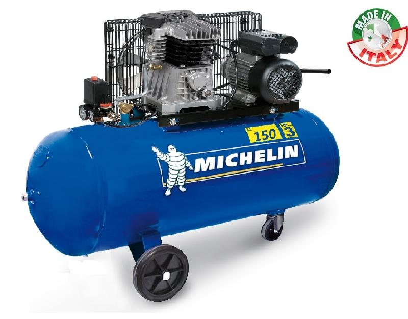 MICHELIN - COMPRESSEUR 150L 3CV BI CYLINDRE - MB150