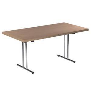 table pliante materiau plateau melamine 160 0 cm x 60 0 cm facon hetre. Black Bedroom Furniture Sets. Home Design Ideas