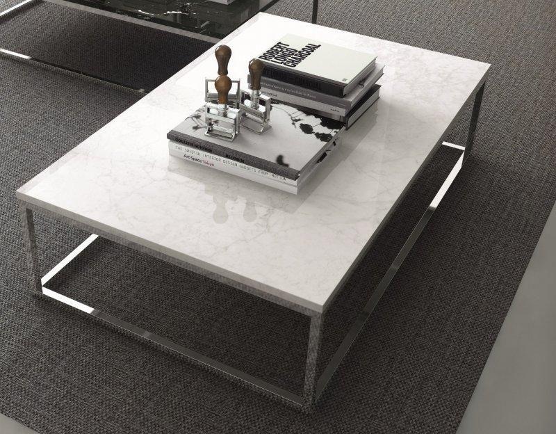 temahome prairie table basse rectangulaire en marbre blanc. Black Bedroom Furniture Sets. Home Design Ideas