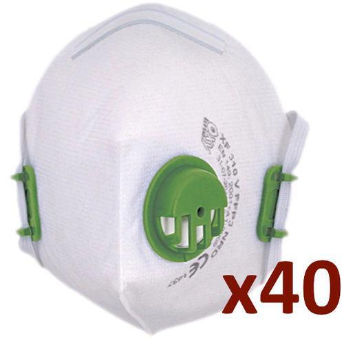 Sachet de 40 - demi-masque ffp3 nr d avec soupape