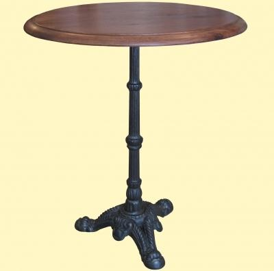 Table de bistrot en fonte for Table de jardin bistrot
