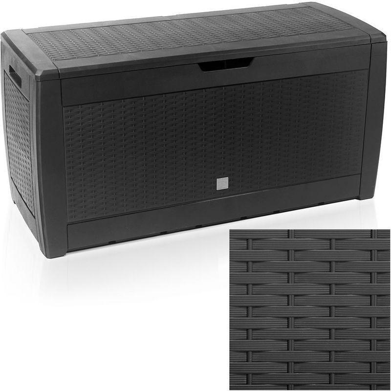 coffre de rangement optique osier anthracite 2 zoopet comparer les prix de coffre de. Black Bedroom Furniture Sets. Home Design Ideas