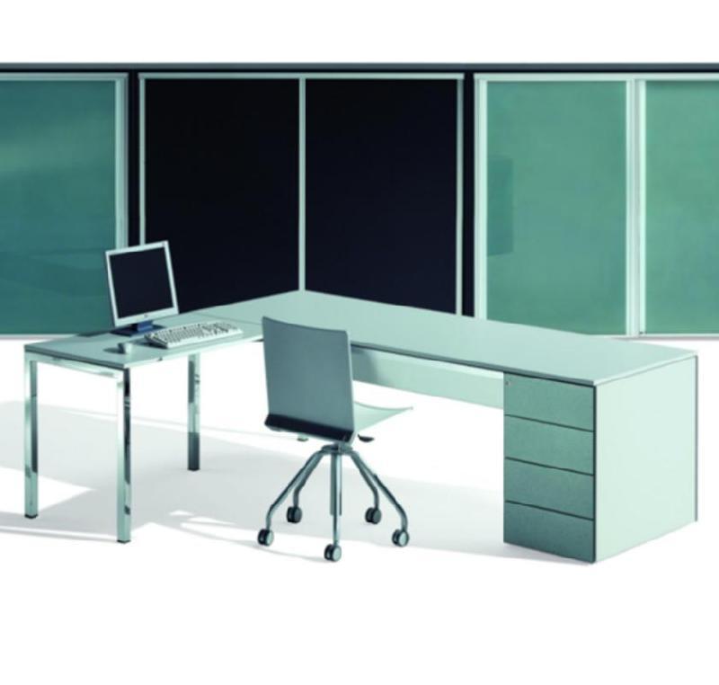 bureau op ratif avec caisson minimum. Black Bedroom Furniture Sets. Home Design Ideas