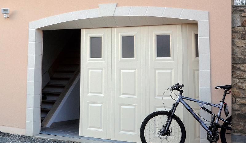 Portes sectionnelles ouverture lat rale ty braz - Porte sectionnelle laterale ...
