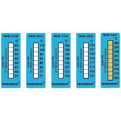 BANDES DE MESURE DE TEMPÉRATURE 50 X 18 MM 116/154°C TESTO TESTOTERM