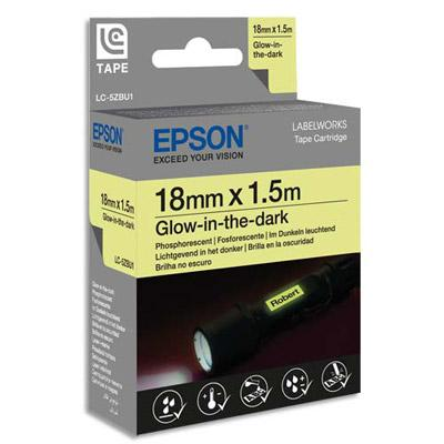 RUBAN PHOSPHORESCENT EPSON LC-5ZBU1 NOIR/PHOSPHORESCENT - 18MMX1,5M