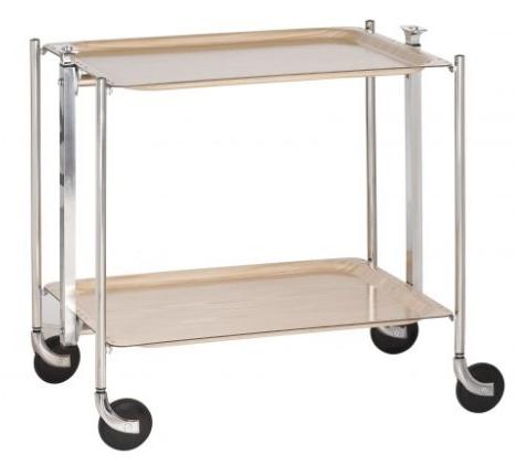 table roulante pliante textable dore 2 plateaux bois. Black Bedroom Furniture Sets. Home Design Ideas