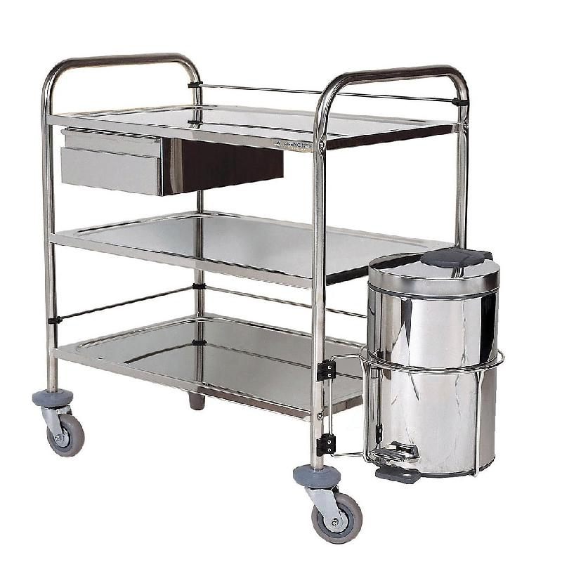 CHARIOT INOX - 3 PLATEAUX