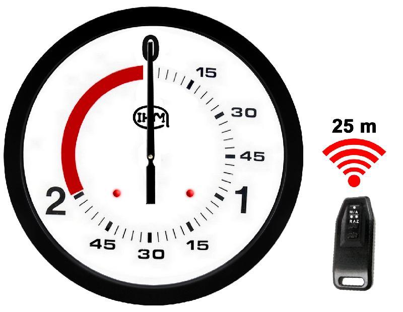 Horloge boxe française 2+1 mn - ø 600mm - télécommande #0646b2v2/ti
