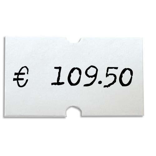 Agipa pack de 6 rouleaux de 1000 étiquettes blanches rectangulaires 21x12mm pour pinces 151991-101418