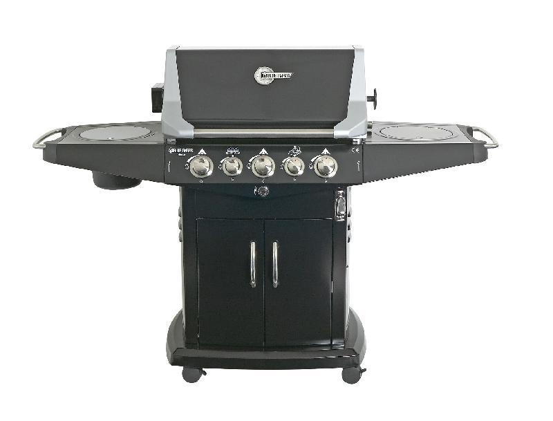 Barbecue gaz 13kw blue ember noir favex avec housse et - Barbecue avec rotissoire ...