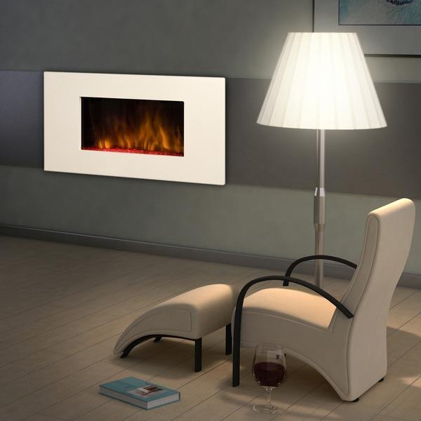 chemin e d corative lectrique design white loft chemin 39 arte 085 comparer les prix de. Black Bedroom Furniture Sets. Home Design Ideas