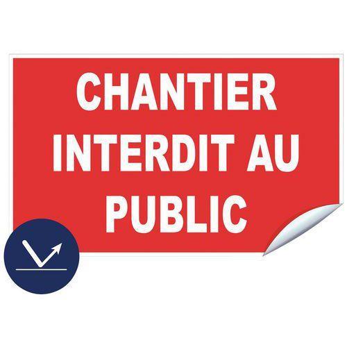 PANNEAU RÉTRORÉFLÉCHISSANT CLASSE 1 CHANTIER ADHÉSIF