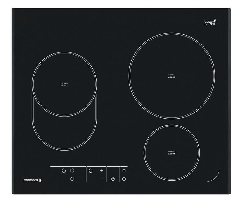 rosieres table cuisson vitroceramique rve632 rve 632 perle noire. Black Bedroom Furniture Sets. Home Design Ideas