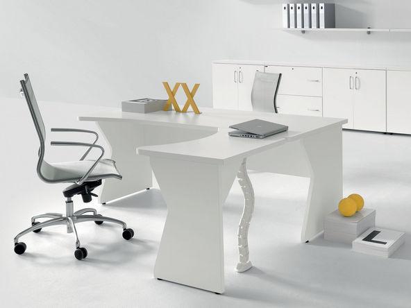 Bureau Individuel Bois Blanc Pas Cher Design