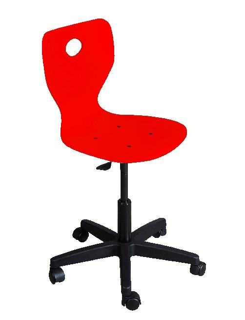 chaise informatique fidji pietement plastique sur roulettes coque bois laque rouge. Black Bedroom Furniture Sets. Home Design Ideas