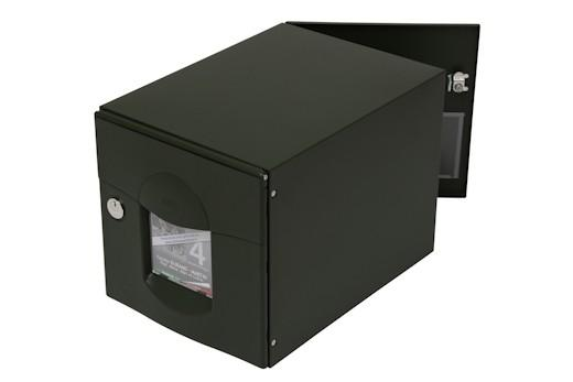 bo te aux lettres normalis solea 2 portes vert mat sabl renz. Black Bedroom Furniture Sets. Home Design Ideas