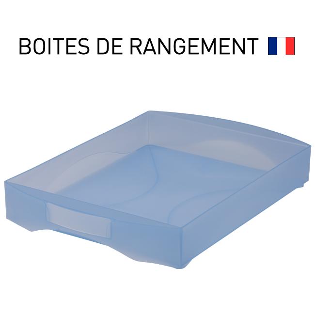 Boite de rangement plateau avec poignee integree starbox - Boite de rangement plastique sous lit ...