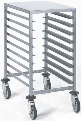 Chariot echelle inox 9 niveaux euronorme 600 x 400 tournus for Echelle inox cuisine