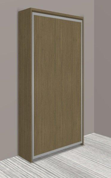 armoire lit escamotable cronos chene taupe couchage 90 22 200 cm. Black Bedroom Furniture Sets. Home Design Ideas