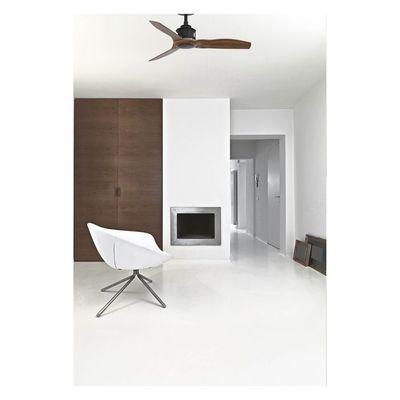 Ventilateur De Plafond Just Fan 91cm Noir Bois Faro