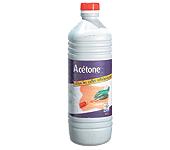 4 FLACONS ACÉTONE 1L