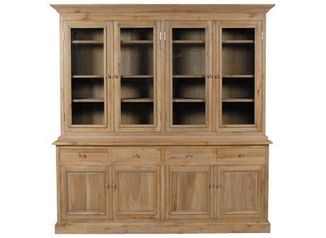 buffet 4 portes et haut vitre. Black Bedroom Furniture Sets. Home Design Ideas