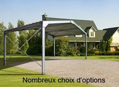 charpentes metalliques abri metallique double pente. Black Bedroom Furniture Sets. Home Design Ideas