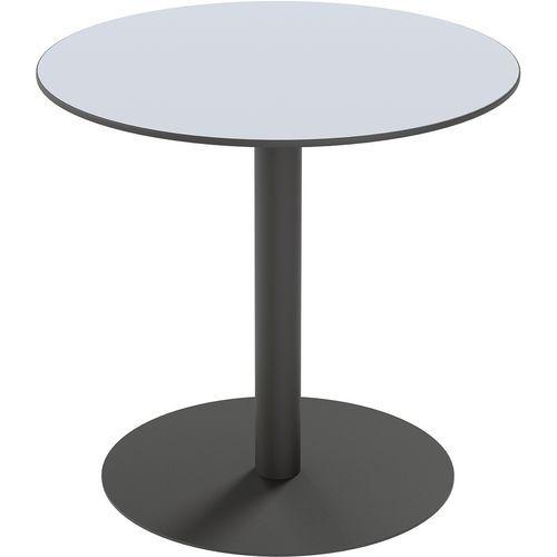 TABLE RESTAURATION MEZZO RONDE Ø80 CM - STRATIFIÉ BLANC