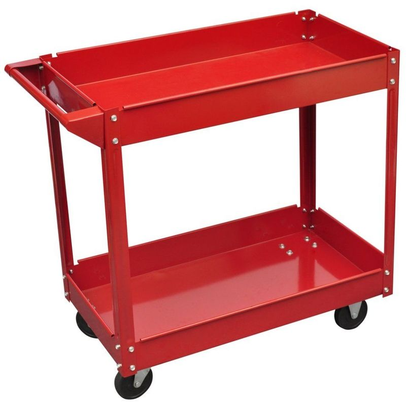 Chariot servante d 39 atelier charge 100 kg rouge outils garage atelier bric - Marque outils bricolage ...