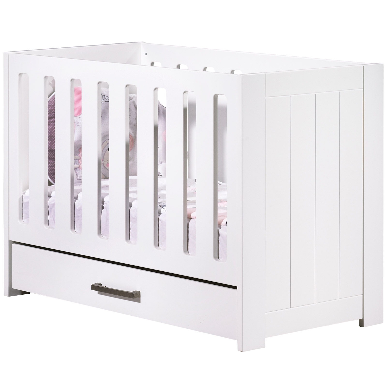 berceau lit a barreaux deauville avec son tiroir 60 x. Black Bedroom Furniture Sets. Home Design Ideas