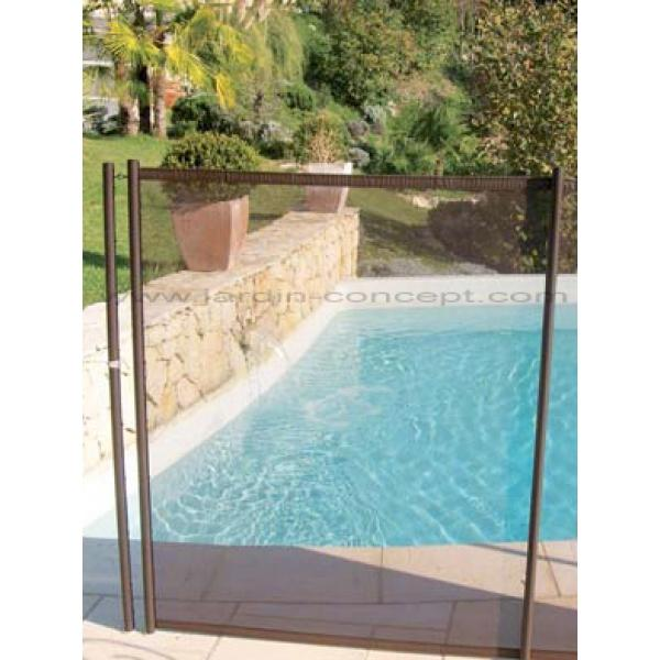 Cl ture piscine souple beethoven filet chocolat comparer for Prix piscine demontable