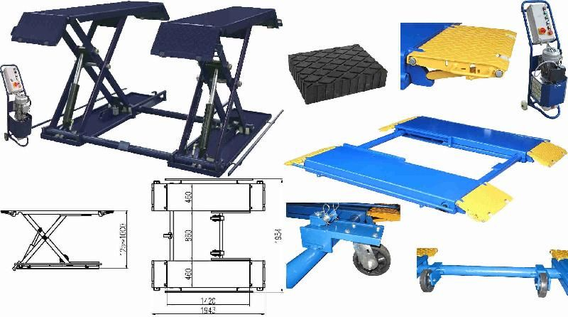 pont elevateur ciseaux 3t monophase 230v. Black Bedroom Furniture Sets. Home Design Ideas