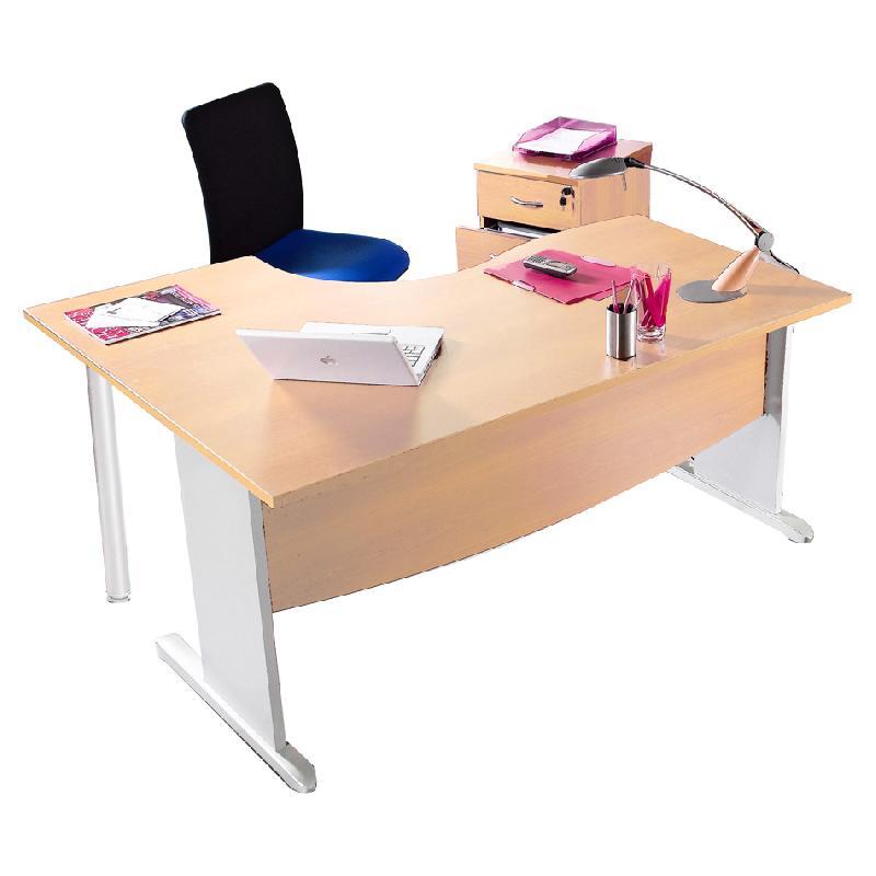 bureau asym trique mercure avec retour droite ou gauche comparer les prix de bureau. Black Bedroom Furniture Sets. Home Design Ideas
