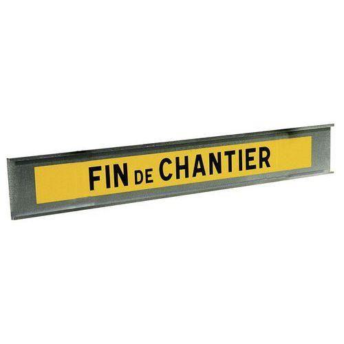 PANNEAU DE SIGNALISATION DE FIN DE CHANTIER - TYPE K2