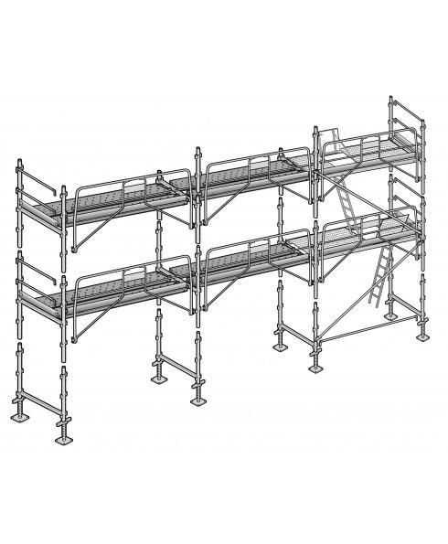 echafaudage facadier 60 m. Black Bedroom Furniture Sets. Home Design Ideas