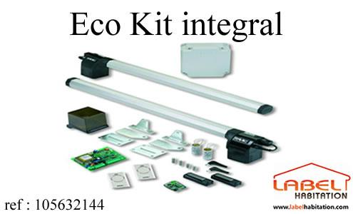 Motorisation portail 2 battants faac eco kit integral for Faac eco kit