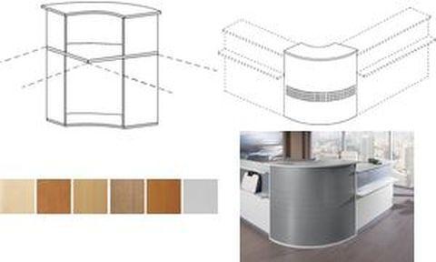 Compléments angles pour bureaux