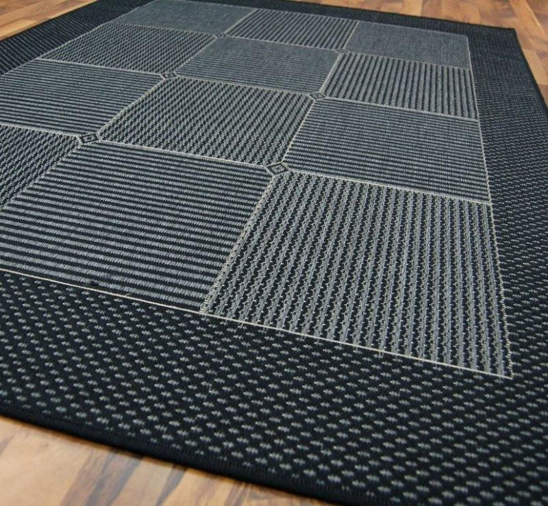 carpetto tapis gris bleu fonce 120x170 cm. Black Bedroom Furniture Sets. Home Design Ideas