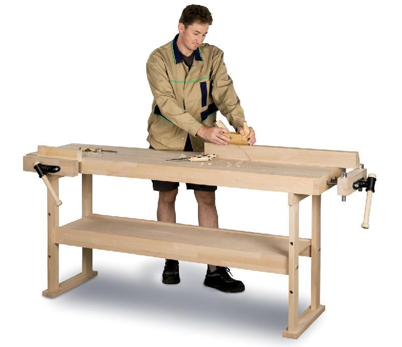 etabli en bois 1340x500 mm holzkraft hb1401. Black Bedroom Furniture Sets. Home Design Ideas