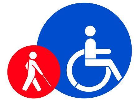 Kit pmr malvoyant - pochoir handicapé - style pochoir - en plastique