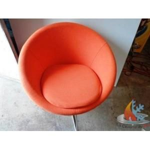 FAUTEUIL ORANGE RETRO